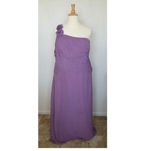 David's Bridal WISTERIA F14010 Chiffon Long Dress
